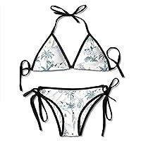 482fb1c30565 Osmykqe Bikini con Cinturino da Donna, Maui Costumi da Bagno con Motivo  Hawaiano per Donna