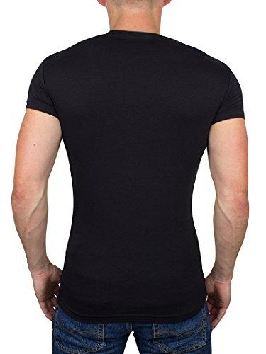 Emporio Armani Zwei Pack Rundhals t-Shirt Blau & Schwarz Blau & Schwarz