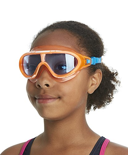 Speedo Jungen Schwimmbrille Jet, Orange/Blue, One Size, 8-092989081