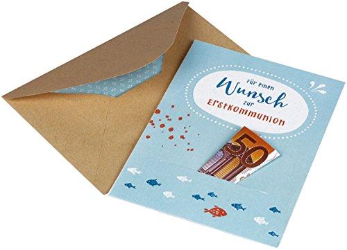 Für einen Wunsch zur Erstkommunion: Karte für ein Geldgeschenk