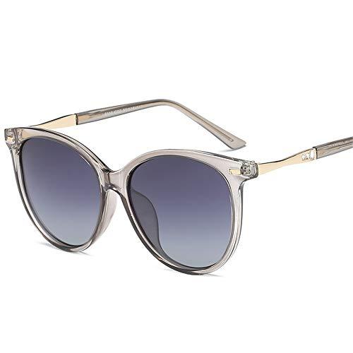 Yiph-Sunglass Sonnenbrillen Mode Retro Polarized Herren Sonnenbrillen UV400 Protective Drive außerhalb der Brille (Farbe : Grau, Größe : Free Size)