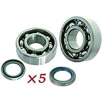 Generic 10x rodamientos de cigüeñal y retén de aceite compatible con para Husqvarna 365372372X P motosierra