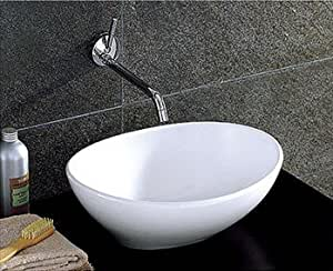oval kitchen sink bathroom countertop oval ceramic basin sink hs02 1329