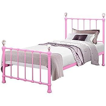 Birlea Jessica 3ft Single Metal Children\'s Bed, Pink: Amazon.co.uk ...