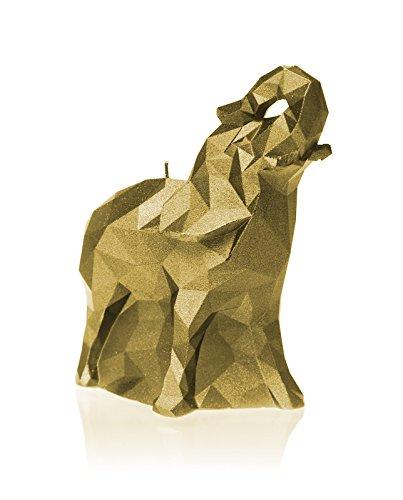Candellana Candles - Vela Mediana de Elefante, Classic Gold, 178mm x 85mm x 157mm