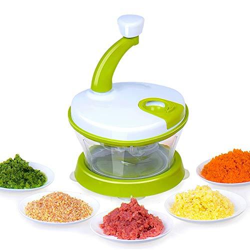 Wmeat Picadora de Verduras, Procesador de Alimentos Batidora de Huevo, Frutos Secos Ensalada de cebollas...