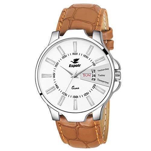 Espoir Analog White Dial Men's Watch - ES133