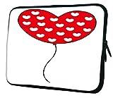 Snoogg rot Herz Luftballons 25,4cm Zoll auf 25,7cm Zoll auf 25,9cm Zoll Laptop Notebook Schuber Sleeve Soft Case, der Fall für MacBook Pro Acer Asus Dell HP Sony Toshiba