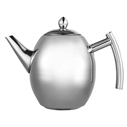 Teiera con filtro a tè setaccio per caffè infusore per tè in acciaio inossidabile per casa caffetteria albergo ristorante e ufficio, 1l
