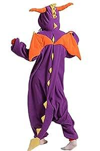 ABYED® Kigurumi Pigiama Anime Cosplay Halloween Costume Attrezzatura,Viola Drago Taille adulte S -pour Hauteur 150-158cm