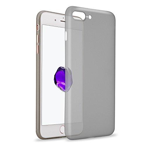 LAMINGO iPhone 7 Hülle Slim Case Matt [Matt TPU - 2017 Edition] Schutzhülle Handyhülle in transparent Schwarz