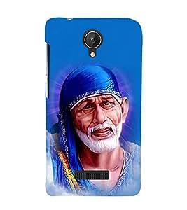 Om Sri Sathya Sai Baba 3D Hard Polycarbonate Designer Back Case Cover for Micromax Canvas Spark Q380