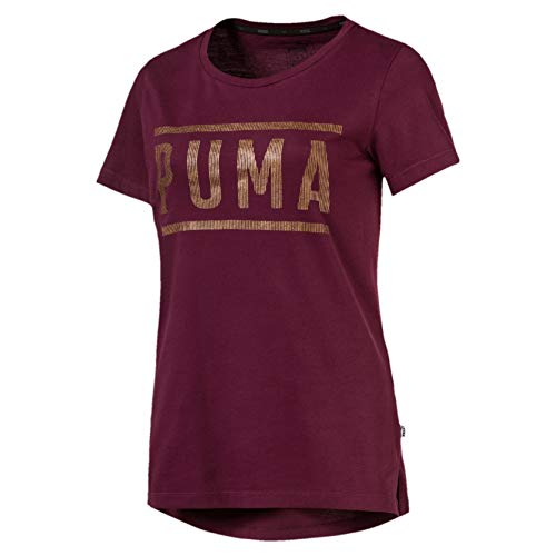 Puma Athletic Tee T-Shirt Femme, Fig/Bronze Medal, FR (Taille Fabricant : XL)