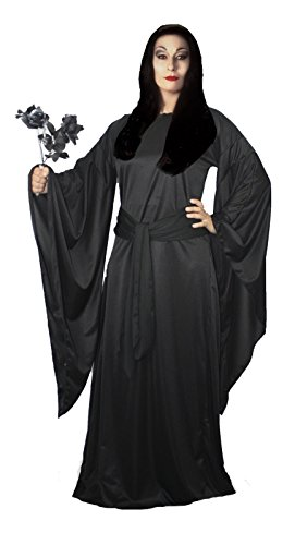 Ladies Black Morticia The Addams Family Halloween Fancy Dress Costume UK [Large/Extra Large,Morticia Addams] by The Dragons Den
