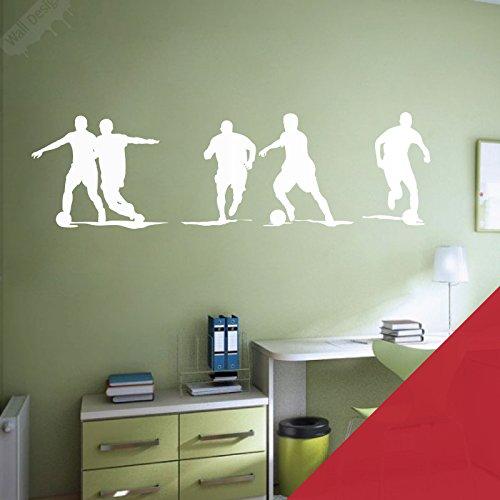 Wall Designer Fußballer Art Wand Vinyl Aufkleber-Jungen Schlafzimmer, Cherry, Extra Large (1460x550mm) -