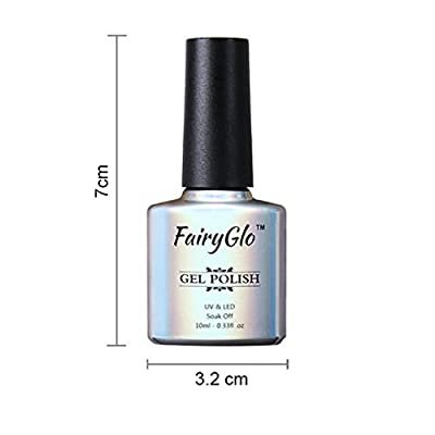 FairyGlo 5 Colours Gel Nail Polish UV LED Soak Off Platinum Varnish Bling Lacquer Nail Art Gift Set Manicure Collection New 10ml C58001