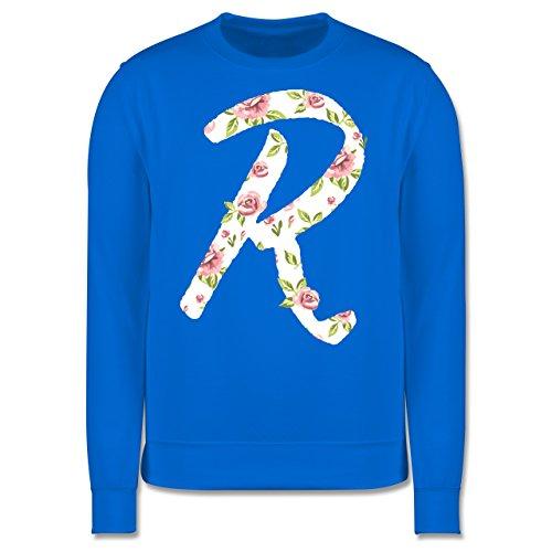 Anfangsbuchstaben - R rosen - Herren Premium Pullover Himmelblau