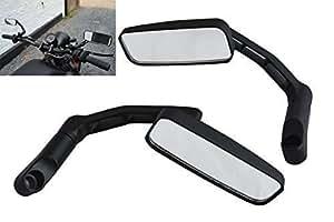 motorrad roller spiegel schwarz rechteckig aluminium 8mm. Black Bedroom Furniture Sets. Home Design Ideas