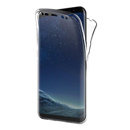 AICEK Cover Samsung Galaxy S8, 360° Full Body Cover Samsung S8 Silicone Case Molle di TPU Trasparente Sottile Custodia per Galaxy S8 (5.8 Pollici)