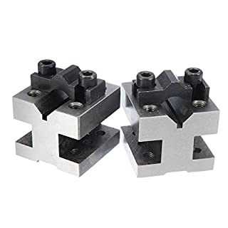 Practical and Convenient V Block Clamp Set V Block Matched Pair 7/16 to 13/16 90 Degree Precision Machine