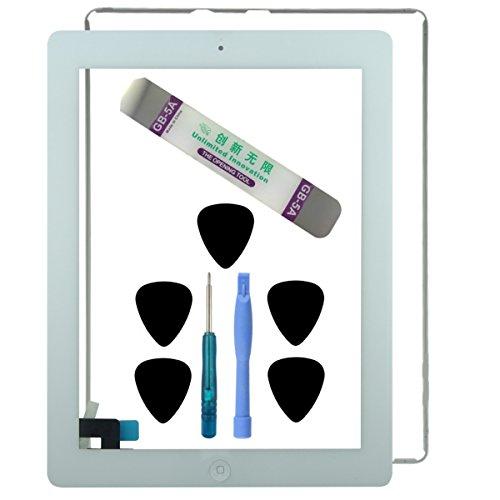kit-de-reparation-ipad-2-blanc-vitre-ecran-tactile-blanc-assemble-bouton-home-adhesif-joint-contour-
