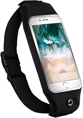 moex Komfortable Sporthülle für iPod Touch 5G | Ideal für Fitness - Wasserabweisend mit Kopfhöreröffnung + 2-teiliger Innentasche, Schwarz (Ipod Case Touch Musik 5)