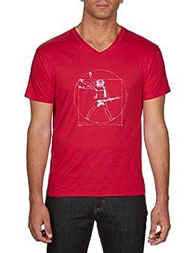 Touchlines Da Vinci Rock Guitar, Camiseta Para Hombre