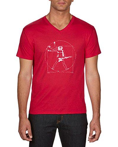 Touchlines Herren T-Shirts Da Vinci Rock Guitar, Rot (Red 08), XX-Large (Da Vinci Guitar Shirt)