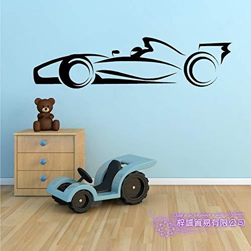 F1 Car Sticker Decal Formula di auto da corsa Poster Decalcomanie da parete in vinile Parete Stickercor Murale Car Sticker 39X150CM