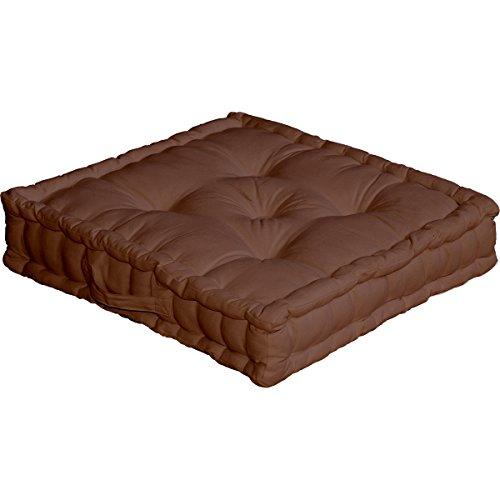 Enjoy Home Disfrute Inicio ECCS 2007 050050 - piso amortiguador, con mango, algodón, tamaño: 50 x 50 cm, color chocolate
