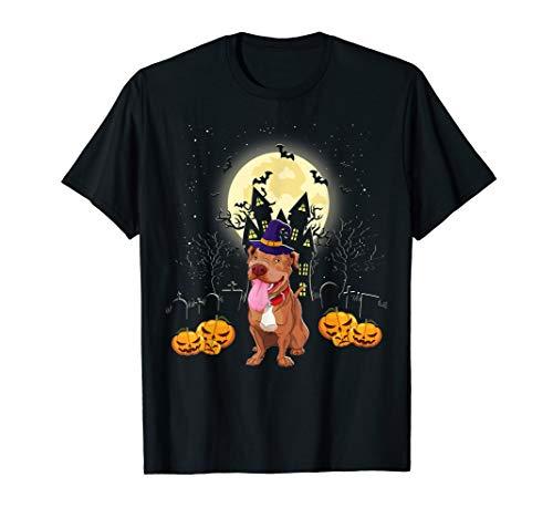shirt Funny Dog Pumpkin Halloween T-Shirt ()