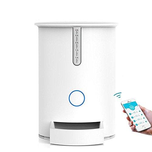 GUORZOM APP Remote Automatic Timer Pet Feeder Katze/Hundefutter Dispenser 2.8L Lagerung Mit Wifi-Anschluss Kompatibel Für IOS/Android (Pet 5 Automatische Feeder Mahlzeit)
