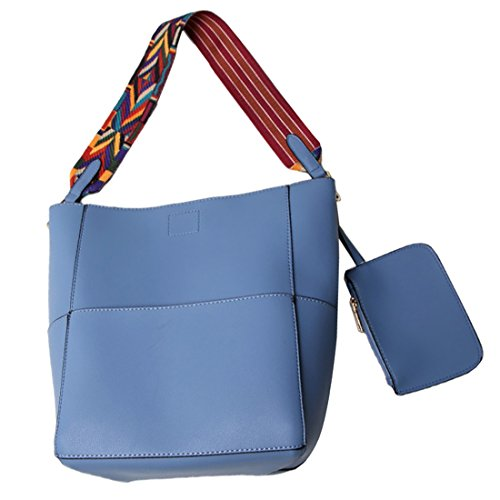 YYWFaux Leather Tote Bag - Borsa tote grande Donna Blue
