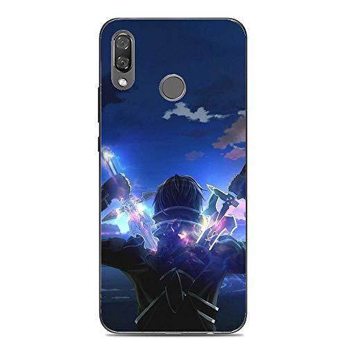 BEMAGIC P20 Lite Case,Flexible Slim Silicone TPU Protector Cover Soft Thin Gel Skin for Huawei P20 Lite-Sword Art On Line 1 - Silicon Protector Case