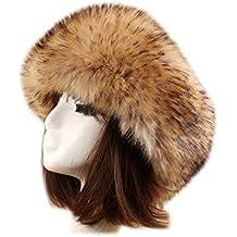 Zinmuwa Sombrero del Estilo Ruso De La Venda de la Piel Sintética del  Invierno Earwarmer Earmuff 6b835c242af