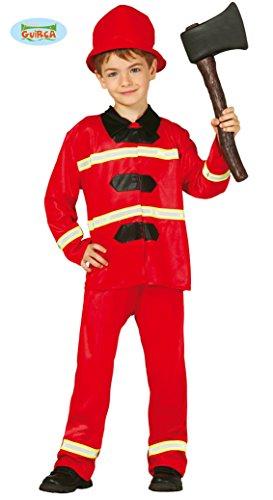 Feuerwehrmann - Kostüm für Kinder Gr. 98 - 146, Größe:98/104