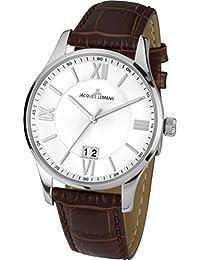 Jacques Lemans Herren-Armbanduhr London Analog Quarz Leder 1-1845B