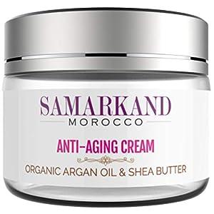 Crema Facial Antiarrugas y Antienvejecimiento con Aceite de Argán Orgánico 100% Marroquí y Manteca de Karité para Día y…