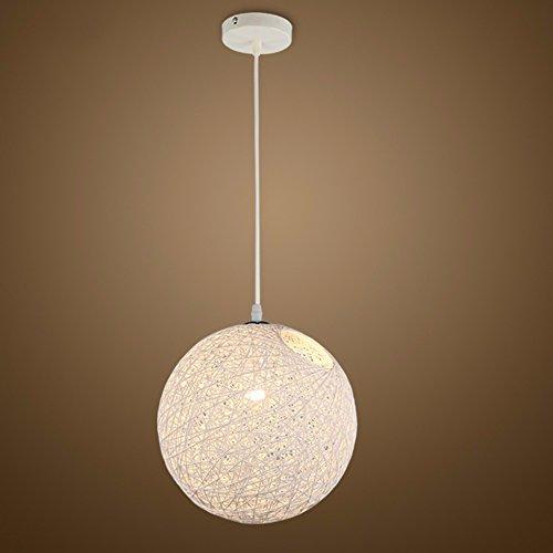 LighSCH Lampadari Sospensione Soffitto Ristorante La luce bianca luce palla semplice personalità Bar regolabile 15cm