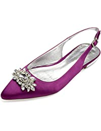 Layearn Zapatos De Boda De Las Mujeres Bombas De SatéN De La Tarde De  Marfil Moda f5e4abb870cba