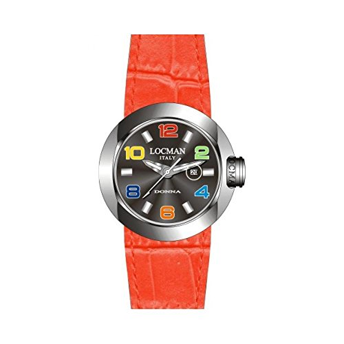 Armbanduhr LOCMAN LOCMAN Damen 042100bknco1psr-k-ks Quarz (Batterie) Stahl Quandrante schwarz Armband Leder