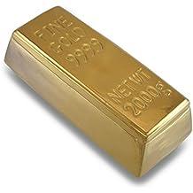 Caja de lingote de oro de cerámica, acabado metálico