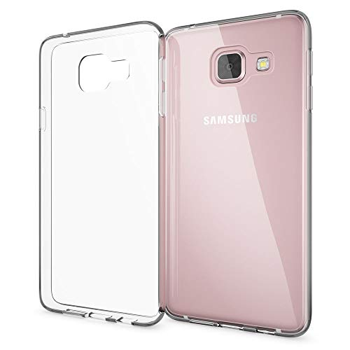 Transparent Handy (NALIA Handyhülle kompatibel mit Samsung Galaxy A3 2017, Ultra-Slim Silikon Motiv Case Cover Crystal Schutzhülle Dünn Durchsichtig, Etui Handy-Tasche Schale Back-Cover Smart-Phone Bumper - Transparent)