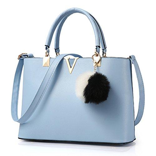 BYD - PU in pelle Donna Borsa Handbag borsa a Spalla Borse a mano Tote Bag Shoulder Bag con Mutil tasche