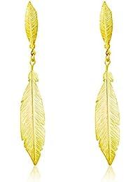 Córdoba Jewels | Pendientes en plata de Ley 925 bañado en oro. Diseño Duo Indian Oro