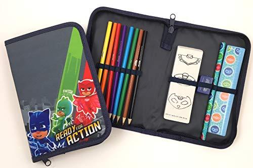 PJ Mask Federmäppchen gefüllt, grün/blau/rot, 045308308 Preisvergleich