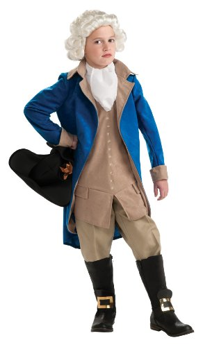 Rubie's Deluxe George Washington Costume - Large (8 to 10 years) by (Blue Kostüme M's M Deluxe &)
