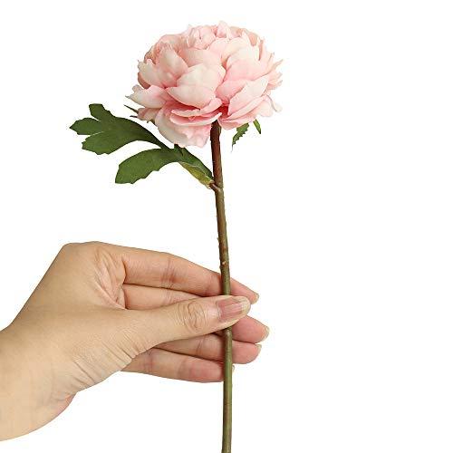 FORH Künstliche Gefälschte Pfingstrose Brautstrauß Hochzeit Home Decor Nachtrose künstliche Blume Kunstblumenstrauß Tiffany blau, rosa lila, grau blau, grün, hellrosa, lila