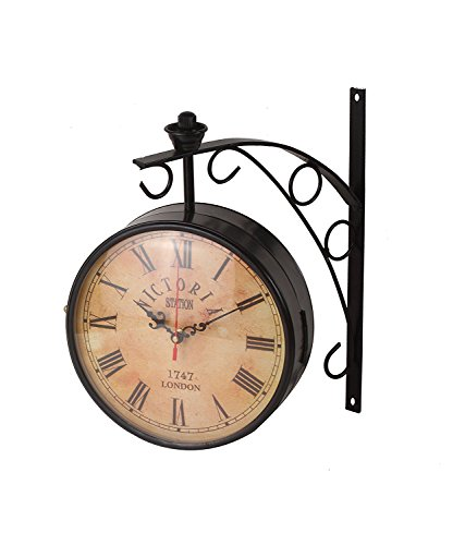 Exclusivelane 6 Inch Dual Side Vintage Station Wall Clock