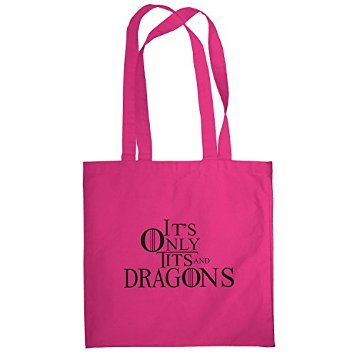 Texlab–Tits and Dragons–sacchetto di stoffa Pink